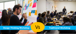design thinking workshop, traditional workshop, difference between design thinking workshop and traditional workshop